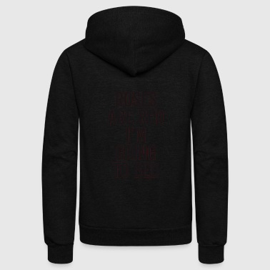 Rose ROSES ARE RED I'M GOING TO BED. - Unisex Fleece Zip Hoodie