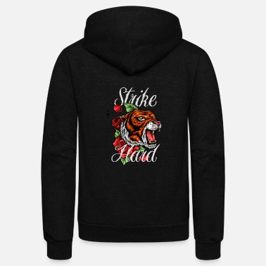 Tiger Tattoo - Unisex Fleece Zip Hoodie