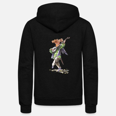 Chant chanting chanterelle / music /musician / mushrooms - Unisex Fleece Zip Hoodie