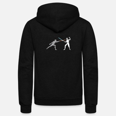 Light Fencing - Unisex Fleece Zip Hoodie