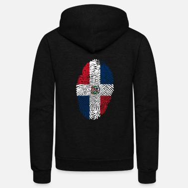 Dominican Republic Fingerprint - Unisex Fleece Zip Hoodie