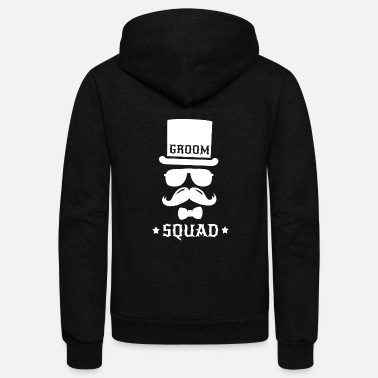 Groom Groom - groom squad wedding team - Unisex Fleece Zip Hoodie