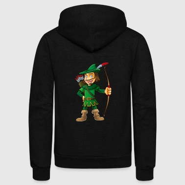 Robin Hood-arrows-bow-tale - Unisex Fleece Zip Hoodie