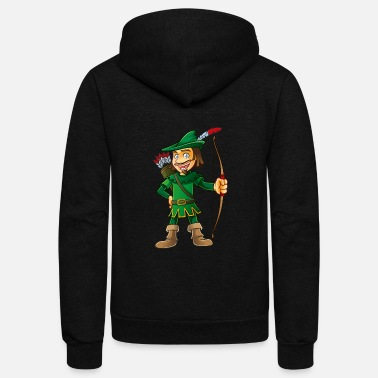 Arrow Robin Hood-arrows-bow-tale - Unisex Fleece Zip Hoodie
