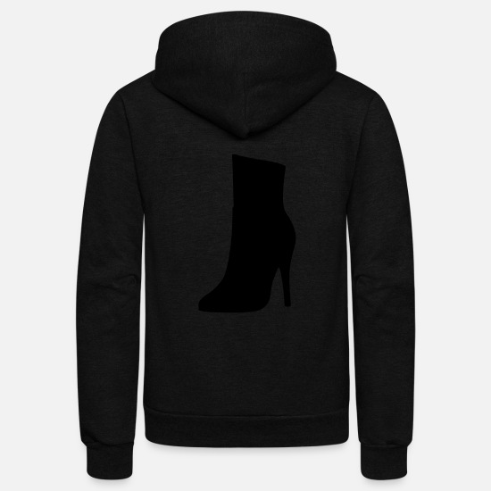 Woman Power Hoodies & Sweatshirts - Vector highheels Silhouette - Unisex Fleece Zip Hoodie black