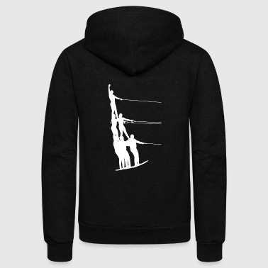 Water Skiing Water Ski Water Sports - Unisex Fleece Zip Hoodie