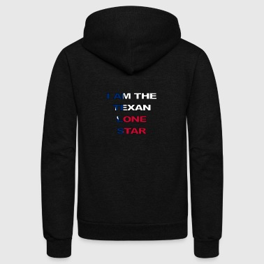 Texan Lone Star - Unisex Fleece Zip Hoodie