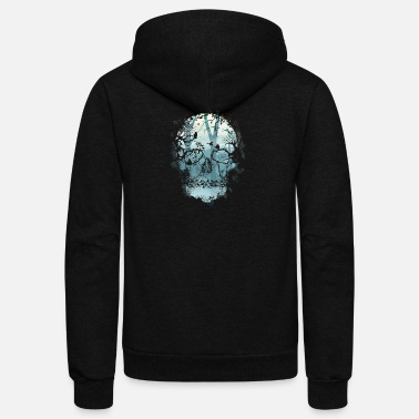 Forest Dark Forest Skull - Unisex Fleece Zip Hoodie