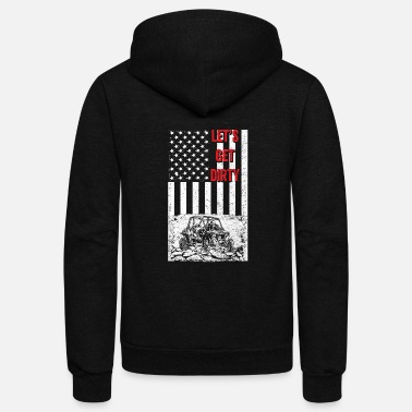 Vehicles Offroad - Let's get dirty flag - Unisex Fleece Zip Hoodie