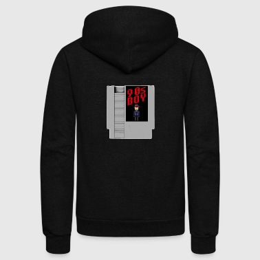 Nineties Boy Retro Video Game Nintendo Console - Unisex Fleece Zip Hoodie