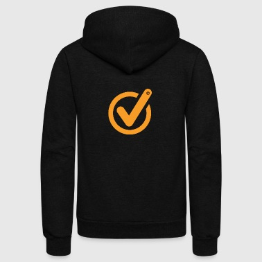 Check Mark Checked - Unisex Fleece Zip Hoodie