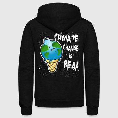 Climate Change is Real. - Unisex Fleece Zip Hoodie