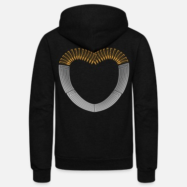 Bolt-action Rifles Ammo and Gun Lover Ammunition Heart - Unisex Fleece Zip Hoodie