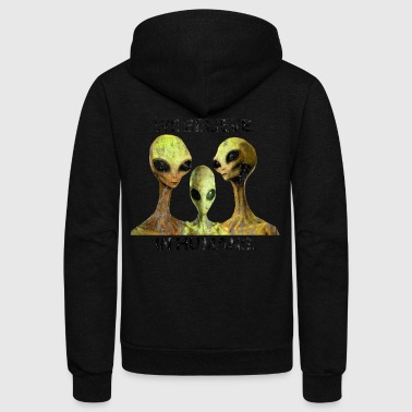 We Believe In Humans, Alien Species Area 51 - Unisex Fleece Zip Hoodie