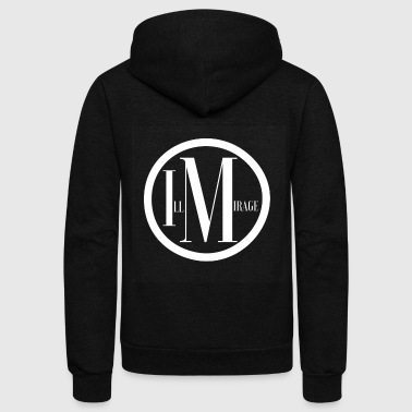 Optical Mirage - Unisex Fleece Zip Hoodie