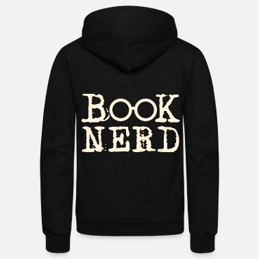 Nerd Book Nerd - Unisex Fleece Zip Hoodie