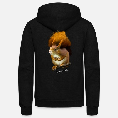 Squirrel Squirrel , Eichhörnchen - Unisex Fleece Zip Hoodie