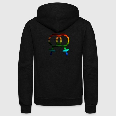 Female Gay Pride - Unisex Fleece Zip Hoodie