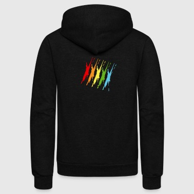 Colors - Unisex Fleece Zip Hoodie