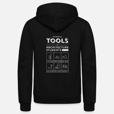 Highrise Building Architecture students - Their essential tools te - Unisex Fleece Zip Hoodie
