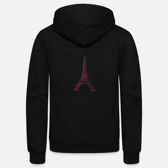 Eiffel Tower Hoodies & Sweatshirts - The Tower - Unisex Fleece Zip Hoodie black