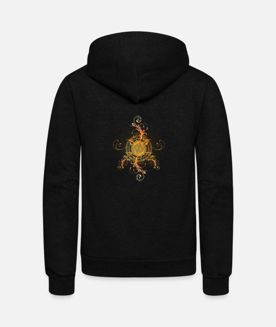 Design Hoodies & Sweatshirts - Floral Design - Unisex Fleece Zip Hoodie black