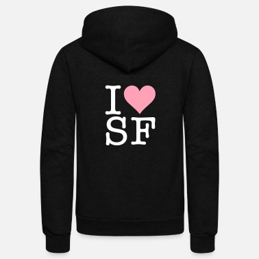 I Love San Francisco I Love San Francisco! - Unisex Fleece Zip Hoodie
