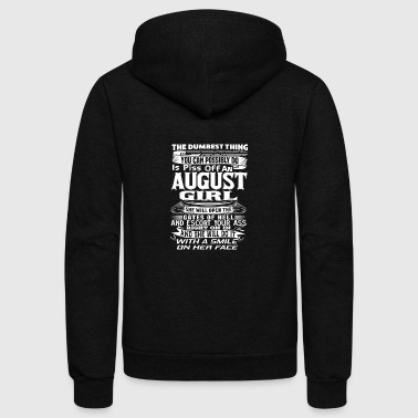 AUGUST Born Girl Birthmonth Shirt for AUGUST - Unisex Fleece Zip Hoodie