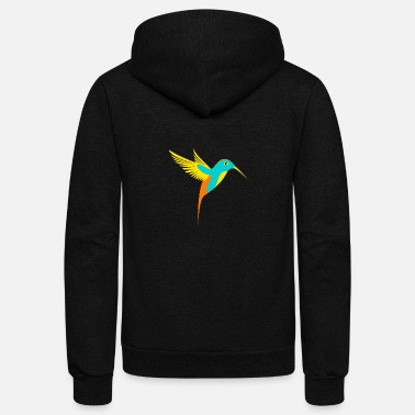 Illustration Hummingbird Illustration - Unisex Fleece Zip Hoodie