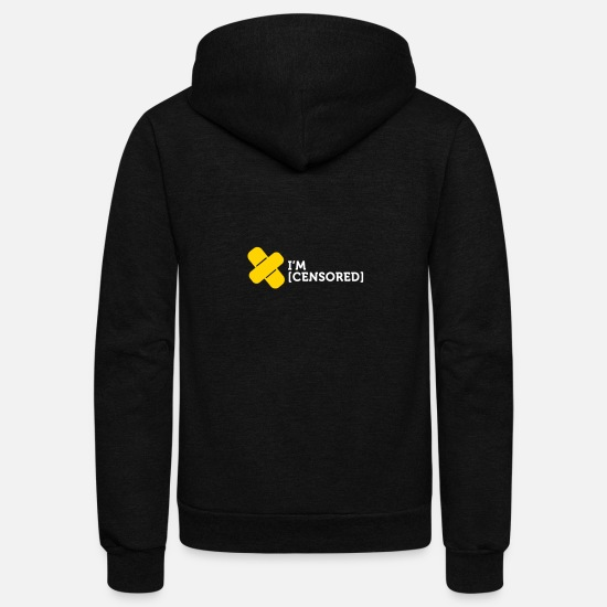 Cut Hoodies & Sweatshirts - I Am Censored. - Unisex Fleece Zip Hoodie black