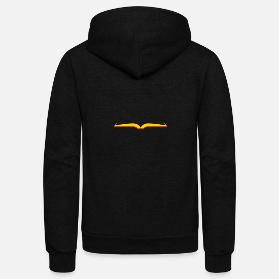 Clip Art Hoodies & Sweatshirts - Opened Book - Unisex Fleece Zip Hoodie black