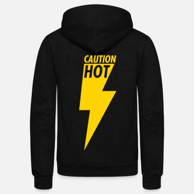 Caution Hot - Unisex Fleece Zip Hoodie
