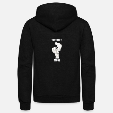 Ink Tattoo Mom inked Mama - Unisex Fleece Zip Hoodie