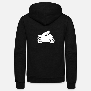 Cru Motocross Motorcycle Motor Biker Race Cru Turbo - Unisex Fleece Zip Hoodie