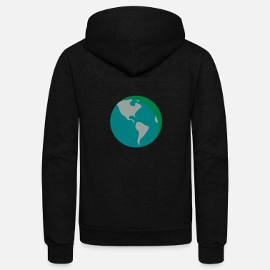 Earth - Unisex Fleece Zip Hoodie