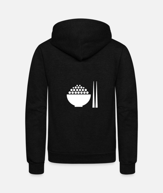 Japan Hoodies & Sweatshirts - Restaurant Meal - Unisex Fleece Zip Hoodie black