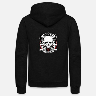 Skull And Bones Skull bones inscription vector drawing image cool - Unisex Fleece Zip Hoodie