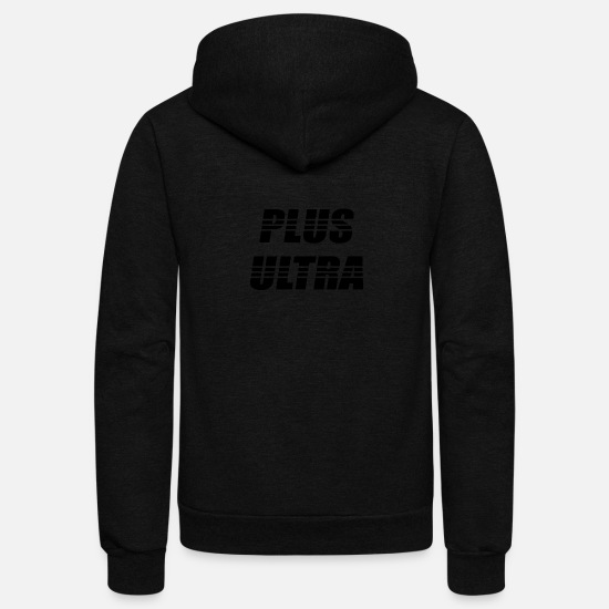 Ultras Hoodies & Sweatshirts - plus ultra white shirt - Unisex Fleece Zip Hoodie black
