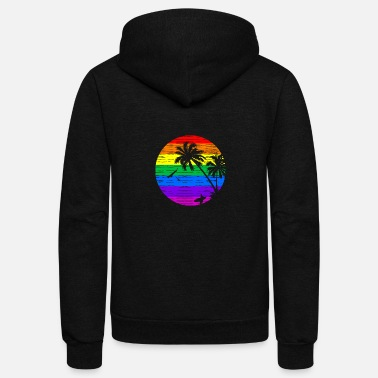 Summer Rainbow Summer V II - Unisex Fleece Zip Hoodie