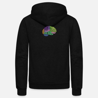 Region Regions of the brain - Unisex Fleece Zip Hoodie