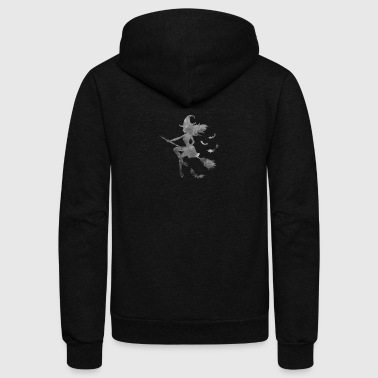Wiccan Goth Halloween Magic Supernatural - Unisex Fleece Zip Hoodie