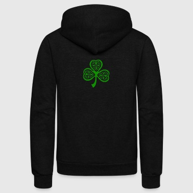 Celtic Shamrock - Unisex Fleece Zip Hoodie