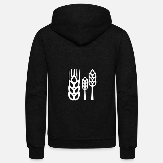 Gift Idea Hoodies & Sweatshirts - Wheat - Unisex Fleece Zip Hoodie black