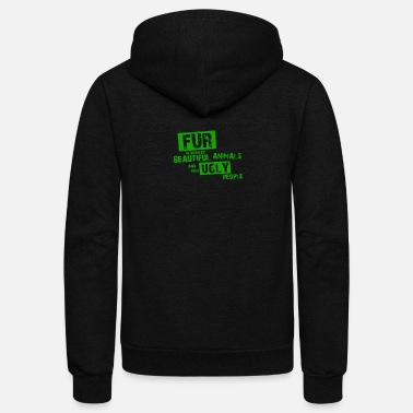 Fur Fur is worn by - Unisex Fleece Zip Hoodie