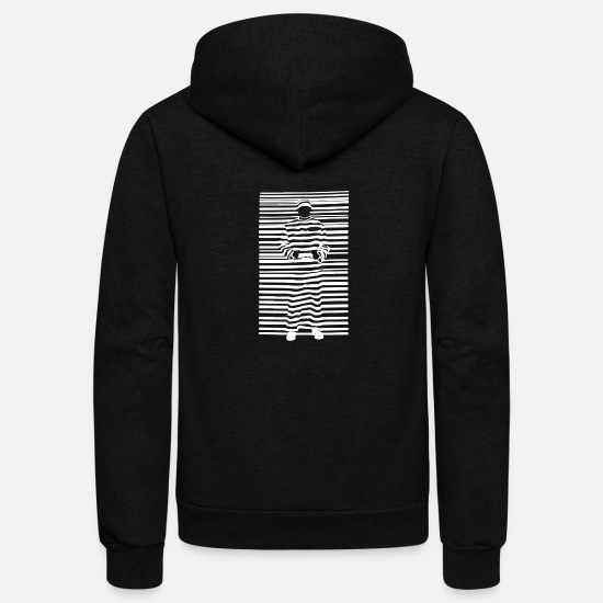 Game Hoodies & Sweatshirts - Banksy Prisoner Barcode - Unisex Fleece Zip Hoodie black