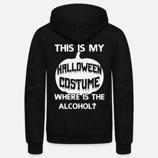Alcohol Hoodies & Sweatshirts - Pumpkin - Unisex Fleece Zip Hoodie black