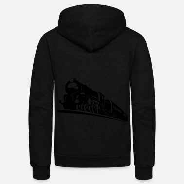 Bnsf train engine - Unisex Fleece Zip Hoodie