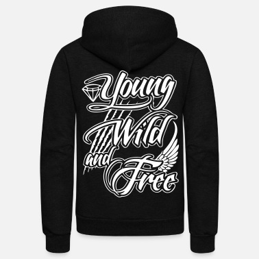 Young, Wild, and Free - stayflyclothing.com - Unisex Fleece Zip Hoodie