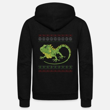 Lizard Knit Iguana Reptile Reptilian Animal Gift - Unisex Fleece Zip Hoodie