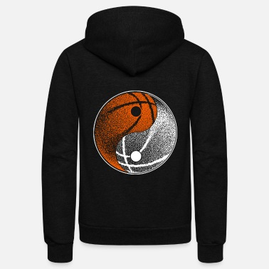 Serenity Yin Yang Basketball Player Hoops Basketballer Gift - Unisex Fleece Zip Hoodie